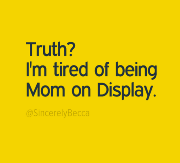 Mom on Display
